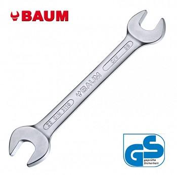 Maticový klíč oboustranný otevřený 19 x 22 DIN 3110 Baum
