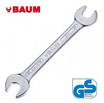 Maticový klíč oboustranný otevřený 24 x 27 DIN 3110 Baum