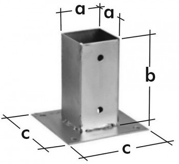 Patka sloupku pravoúhlá PSP 101 x 150 x 150 x 2
