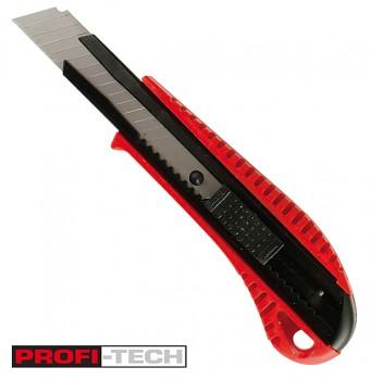 Ulamovací plastový nůž 18 mm PROFI-TECH s kovovou výztuhou