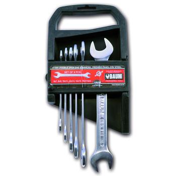 Sada maticových klíčů oboustranných otevřených 6 ks DIN 3110 Bau