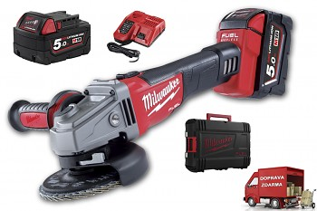 Aku úhlová bruska Milwaukee M18 CAG 125X-502C FUEL
