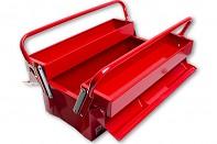 Kovový kufr na nářadí 40x20x24 cm se dvěma držadly