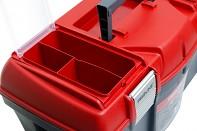 Plastový box s kovovými přeskami 46x26x23 cm