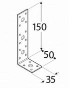 Úhelník spojovací KL 3 50 x 150 x 35