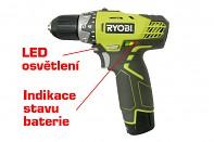RYOBI RCD12011L 12V 1 x aku 1,3 Ah + nabíječka