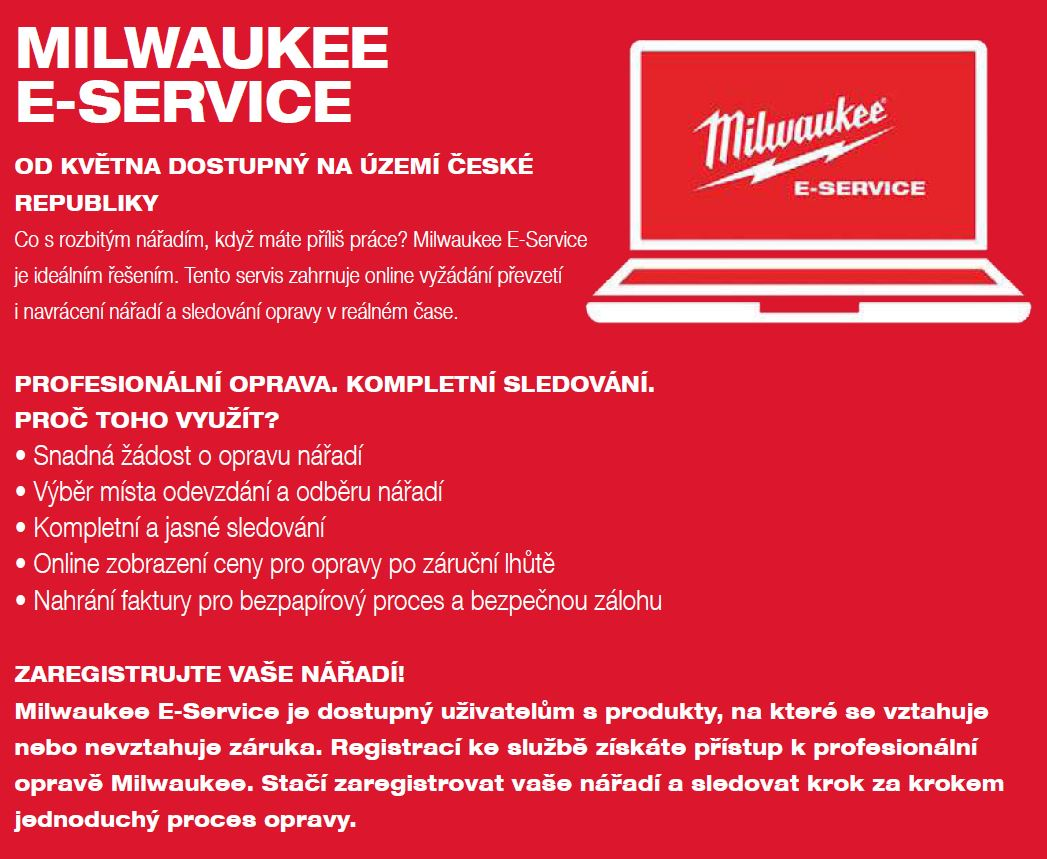 E-servis Milwaukee 1