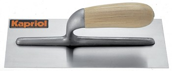 Hladítko ocelové rovné dřevěná rukojeť 280 x 120 mm KAPRIOL