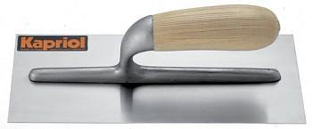Hladítko INOX rovné dřevěná rukojeť 280 x 120 mm KAPRIOL