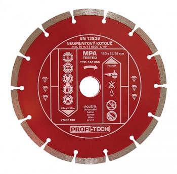 Kotouč diamantový segmentový standart 180 / 22 mm PROFI-TECH