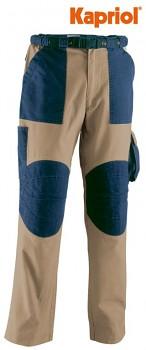 Pracovní kalhoty TENERE béžovo-modré XXXL Kapriol