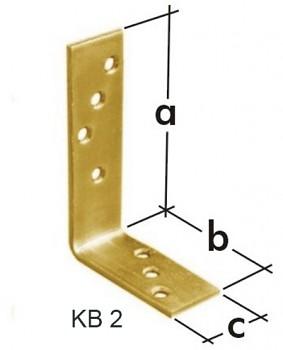 Úhelník trámový KB 2 120 x 80 x 35