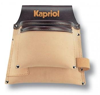 Kapsa na opasek koženka + kůže - 2 kapsy Kapriol