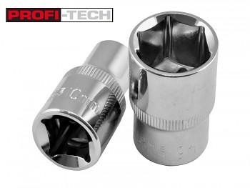 "Gola hlavice nástrčná 1/2"" 32 mm CrV Profi-Tech"