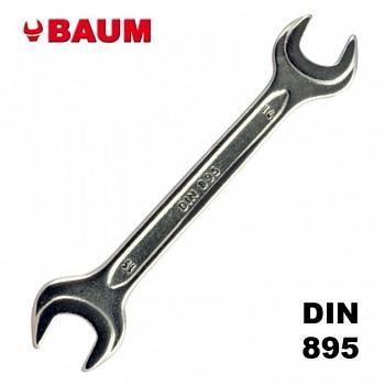 Klíč oboustranný maticový 17 x 19 mm DIN 895 chromovaný BAUM