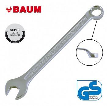 Klíč očkoplochý maticový vyhnutý 10 x 10 DIN 3113B CrV chromovaný BAUM