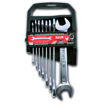 Sada maticových klíčů oboustranných otevřených 8 ks DIN 3110 Baum