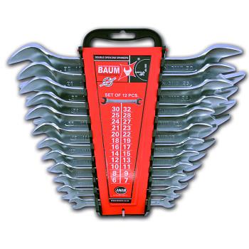 Sada maticových klíčů oboustranných otevřených 12 ks DIN 3110 Baum