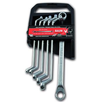 Sada klíčů vyhnutých 75° maticových očkových 6 ks DIN 838 Baum