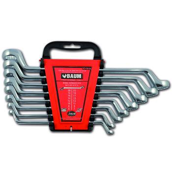 Sada klíčů vyhnutých 75° maticových očkových 8 ks DIN 838 Baum