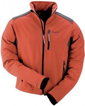 Bunda softshell oranžovo-šedá Dragon XL Kapriol