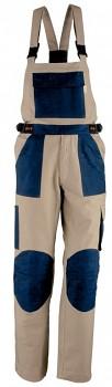 Kalhoty pracovní s laclem Kalahari béžovo-modré M Kapriol