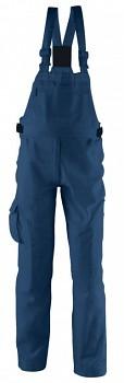 Kalhoty pracovní s laclem Kalahari modré L Kapriol