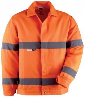 Bunda pracovní výstražná oranžová M Kapriol