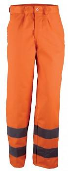 Kalhoty pracovní výstražné oranžové M Kapriol