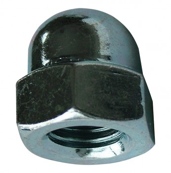 Matice uzavřená M8 DIN 1587 zinek bílý