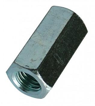 Matice prodlužovací M6 x 18 DIN 6334 zinek bílý