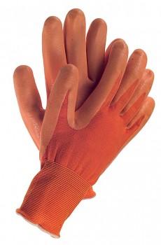 Pracovní povrstvené rukavice TOUCH ORANGE 9 Kapriol