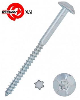 Vrut bezpečnostní 7 x 140 SAFER VITI zinek bílý Friulsider