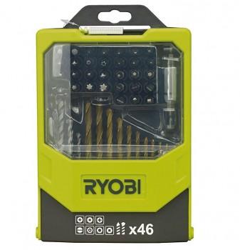 Ryobi sada bitů RAK46MIX 46ti dílná sada bitů a vrtáků