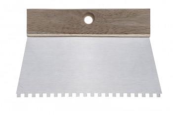 Stěrka kovová zubatá Eko 20 cm, zub 10 x 10 Kapriol