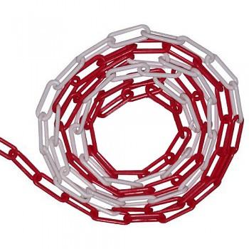 Řetěz plastový 6 mm červeno-bílý