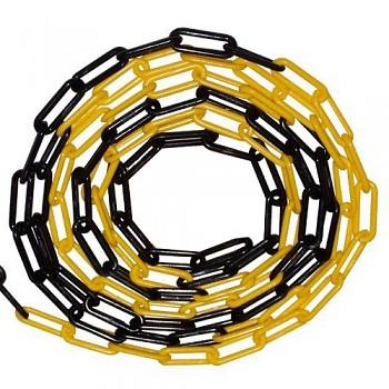 Řetěz plastový 6 mm žluto-černý