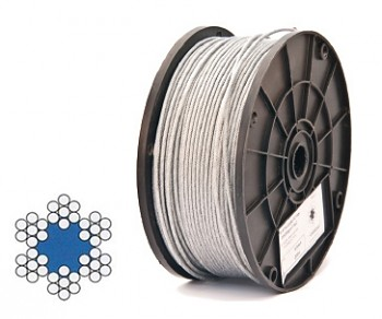 Lano ocelové 6,0 mm (6 x 7 + FC) DIN 3055
