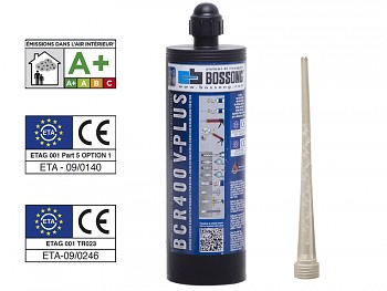Chemická kotva PROFI vinylester V-PLUS 400 BOSSONG bez styrenu