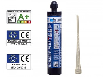 Chemická kotva PROFI vinylester V-PLUS 300 BOSSONG bez styrenu