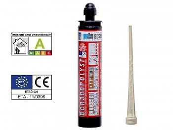 Chemická kotva PROFI polyester POLY SF 300 BOSSONG bez styrenu