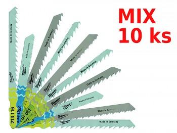 Mix 10 ks pilový plátek do přímočaré pily