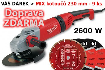 Úhlová bruska 230mm Milwaukee AGVM 26-230 GEX/DMS