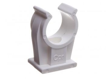 Objímka příchytka jednoduchá CPR 28 mm na kabely a CU trubky