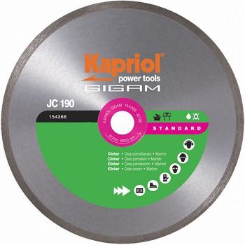 Diamantový celoobvodový kotouč JC190 230x25,4 Kapriol