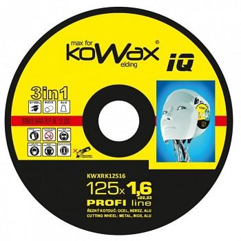 Řezný kotouč Kowax 3v1 125 x 1,6 x 22mm