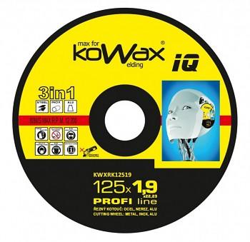 Řezný kotouč Kowax 3v1 125 x 1,9 x 22mm