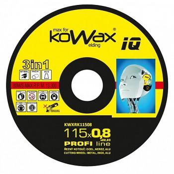 Řezný kotouč Kowax 3v1 115 x 0,8 x 22mm