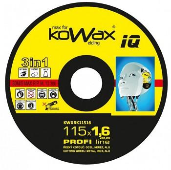 Řezný kotouč Kowax 3v1 115 x 1,6 x 22mm