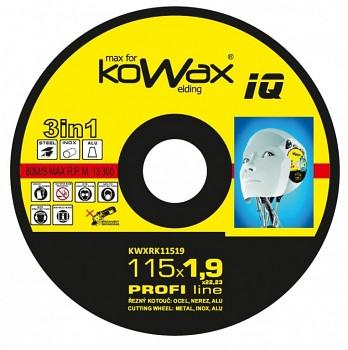 Řezný kotouč Kowax 3v1 115 x 1,9 x 22mm